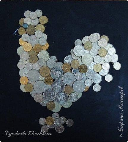 На конкурс я решил изготовить петушка, используя монетки. фото 1