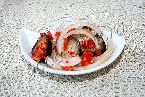 закуска из баклажанов с луком