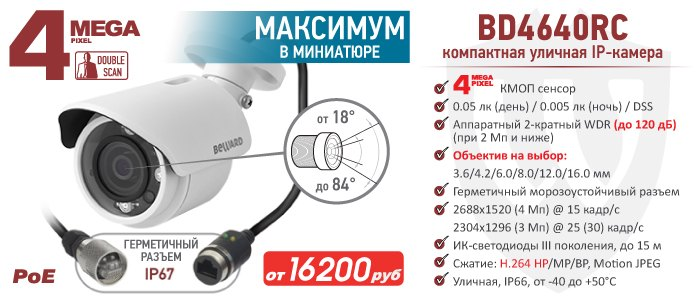 IP-камера BEWARD BD4640RC